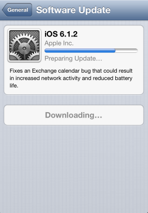 iOS 6.1.2 แก้ไขแบตหมดเร็ว Update กันโลด [Gadget]
