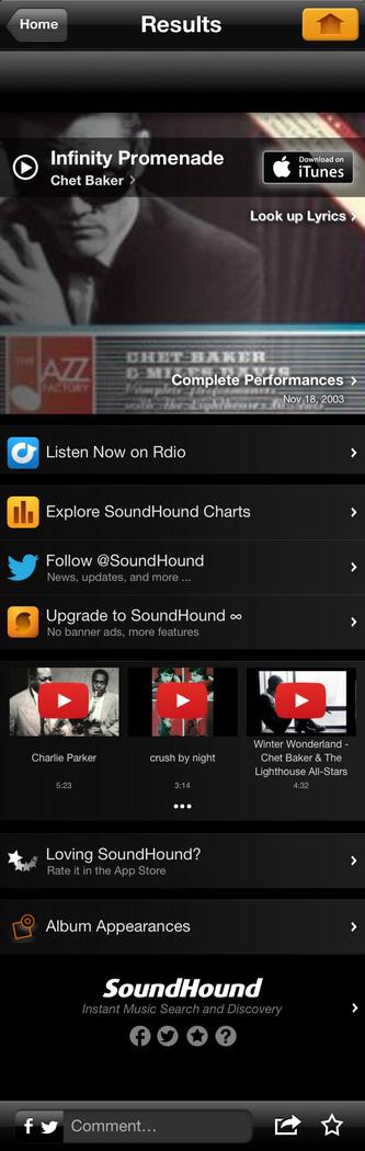 อยากรู้ว่านั่นเพลงอะไร Soundhound บอกคุณได้ [App]