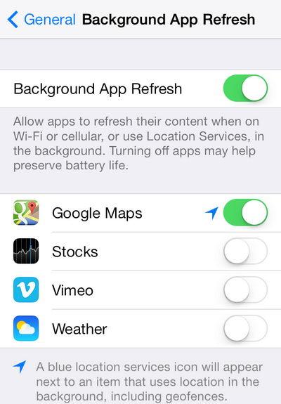 3 วิธีช่วยลดอาการแบตหมดเร็วสำหรับ iOS7