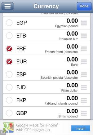 แปลงอัตราแลกเปลี่ยนเงินหลายสกุลในครั้งเดียว