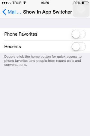 วิธีปิดรายชื่อ Contact ใน App Switcher สำหรับ iOS 8
